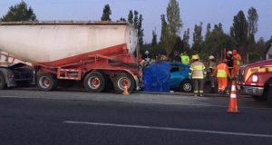 Cuatro personas mueren tras grave accidente de tránsito en la Ruta 5 Sur a la altura de Parral
