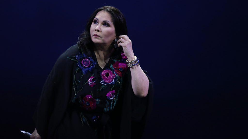 Mariachi de Ana Gabriel se tapó un ojo con la mano en Viña 2020
