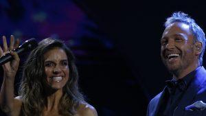 Se le nota el embarazo: este fue el look de María Luisa Godoy y Martín Cárcamo en el día 5 de Viña 2020