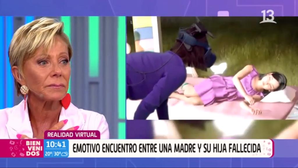 Encuentro virtual de madre con su hija fallecida hizo llorar al panel de Bienvenidos
