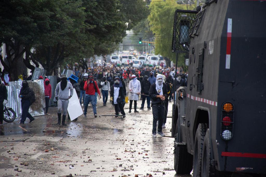 Las protestas en contra del gobierno colombiano