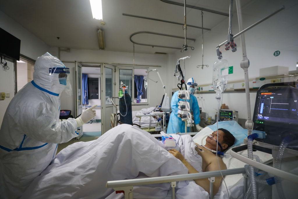 Pacientes aislados por el coronavirus en China