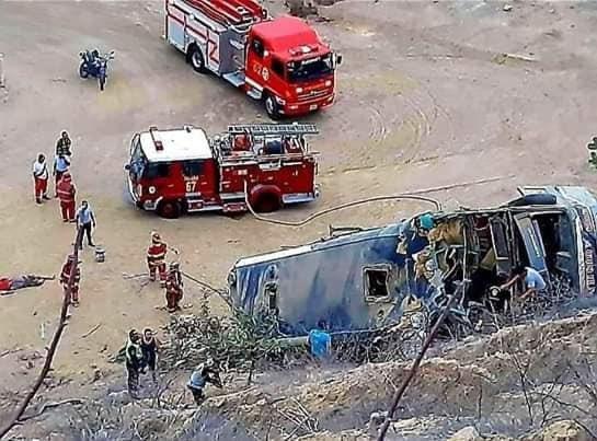 Al menos 8 muertos deja accidente de bus con hinchas del Barcelona de Ecuador