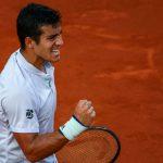 Cristian Garin terminó su partido ante Borna Coric y se metió en la final del ATP de Río
