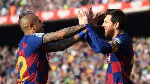 Un joya: El golazo de Lionel Messi para la victoria parcial del FC Barcelona