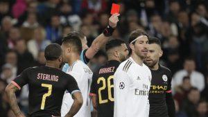 Sergio Ramos se convirtió en el jugador con más expulsiones en la historia de la UEFA Champions League