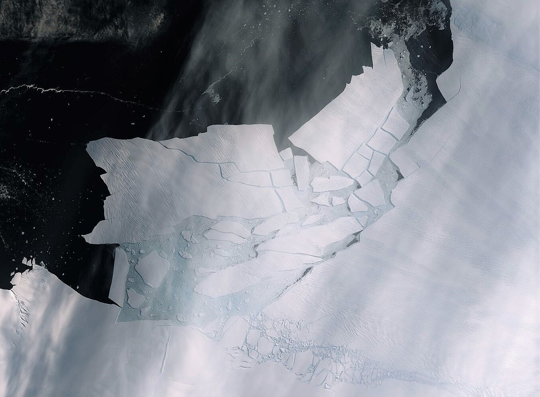 El quiebre en el glaciar Isla Pine