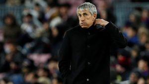 Quique Setién respaldó a Arturo Vidal tras su expulsión por Champions League