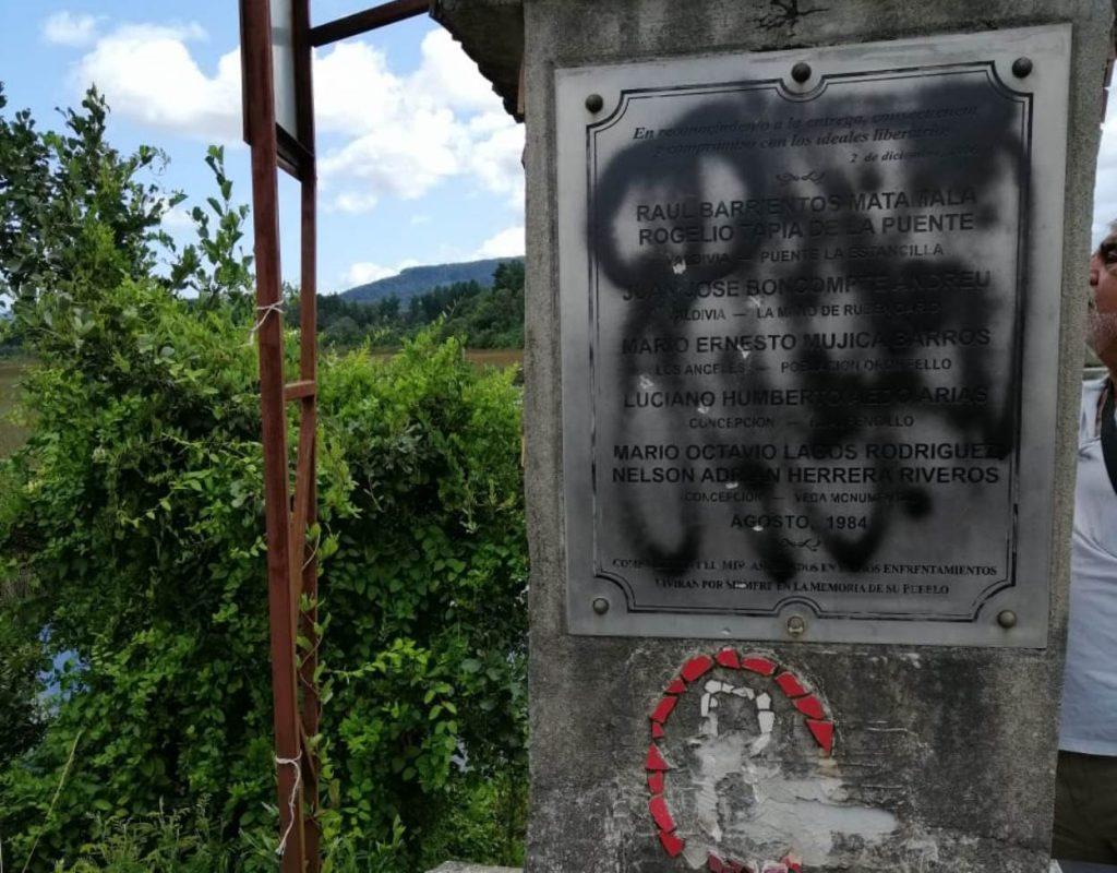 INDH condenó ataque a memorial en Valdivia con rayados y destrucción de mosaico