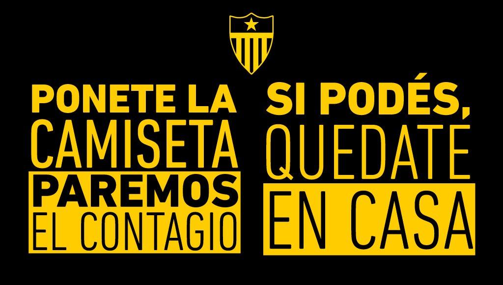 La campaña a favor del aislamiento preventivo que difunde Peñarol