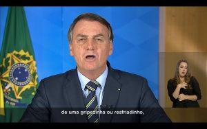 Bolsonaro niega gravedad de coronavirus: Por haber sido atleta yo solo tendría una pequeña gripe