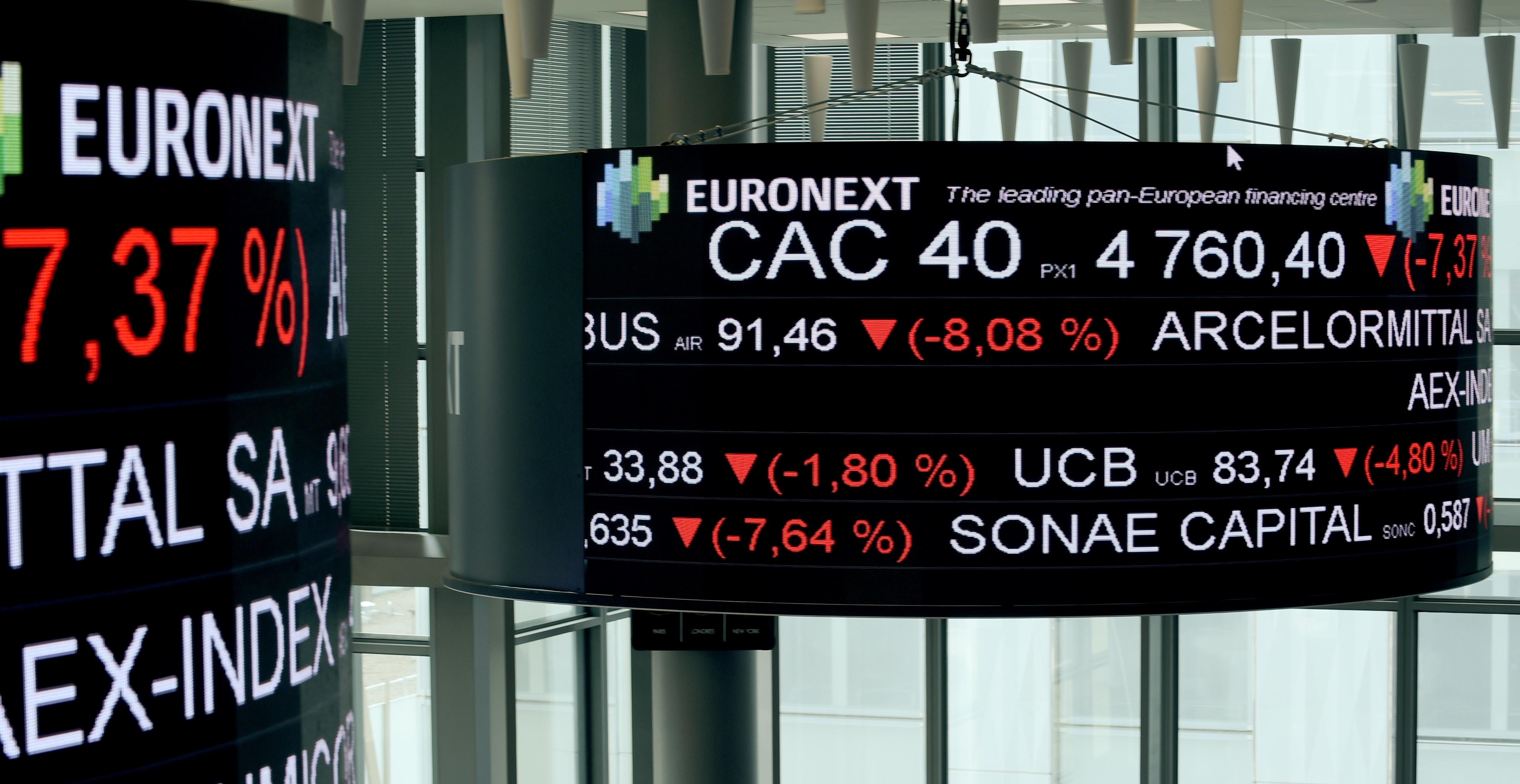 En el mes de marzo las bolsas europeas marcaron fuertes caídas por el Covid-19