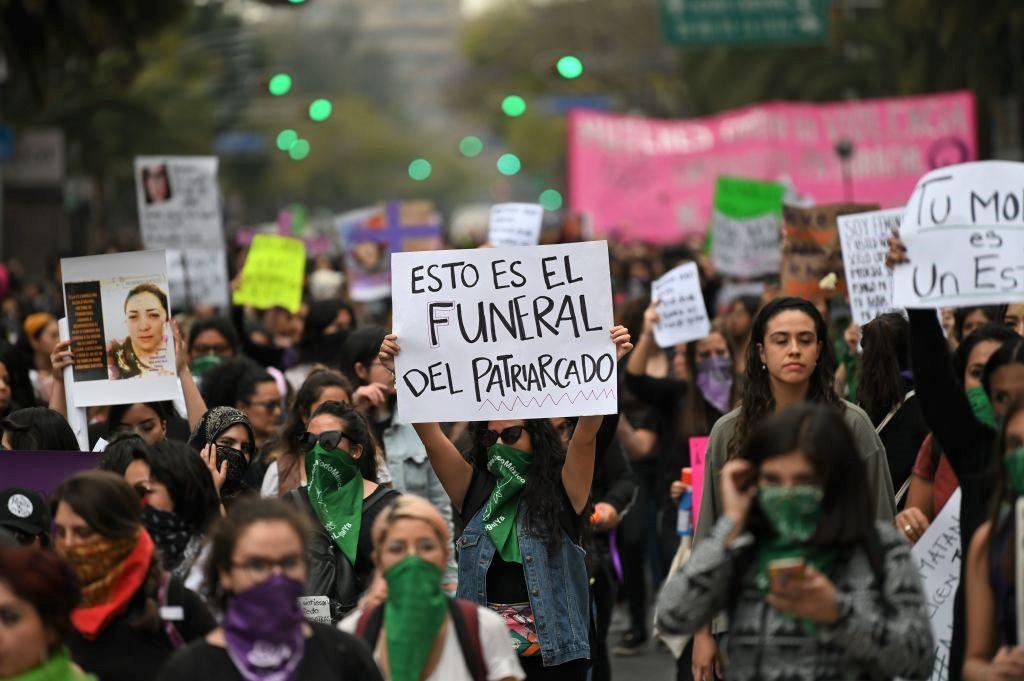Una protesta feminista en Ciudad de México