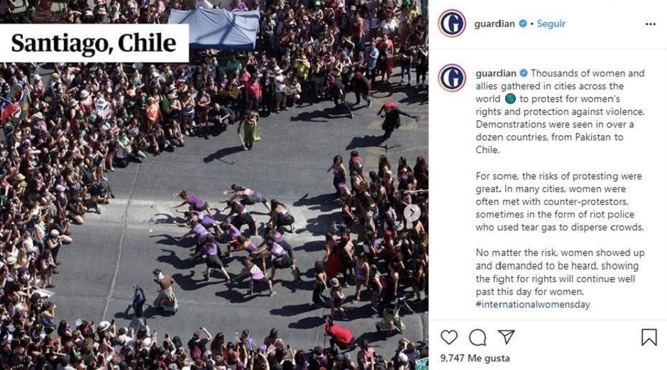 The Guardian se refiere a las marchas del 8M en todo el mundo