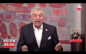 """Don Francisco no descartó un nuevo """"Chile ayuda a Chile"""""""