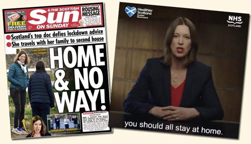 Las críticas contra Catherine Calderwood en las redes sociales