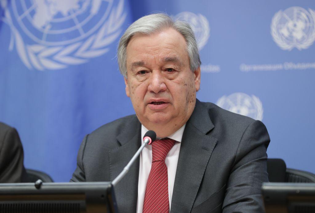 El secretario general de la ONU Antonio Guterres