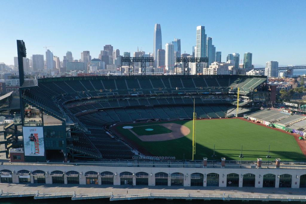 El campo vacío del Oracle Park de los San Francisco Giants