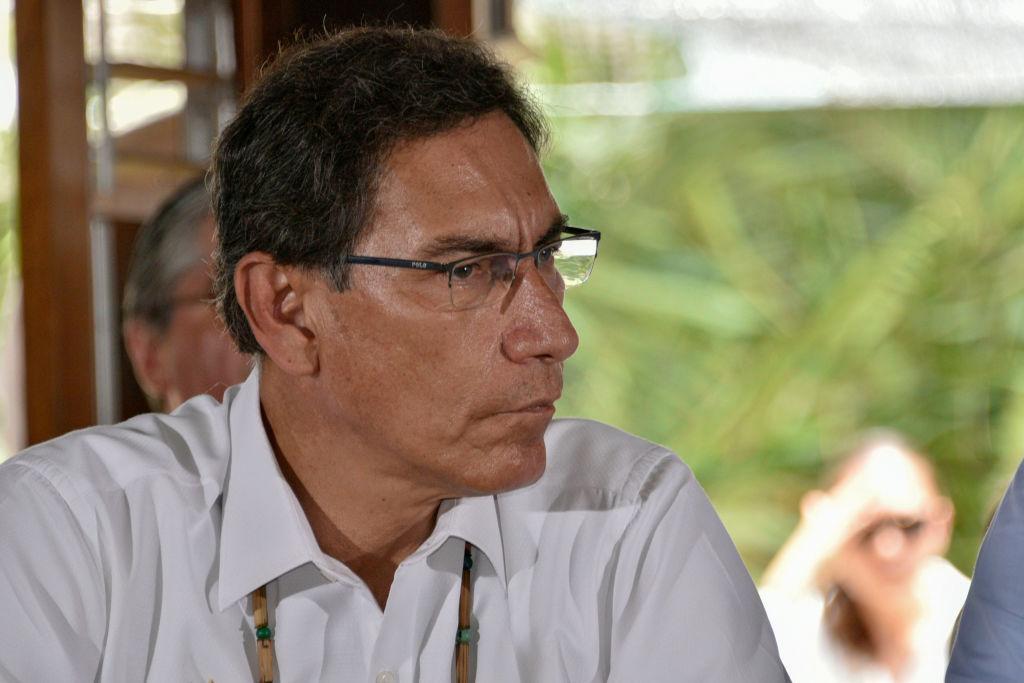 El gobernante peruano Martín Vizcarra