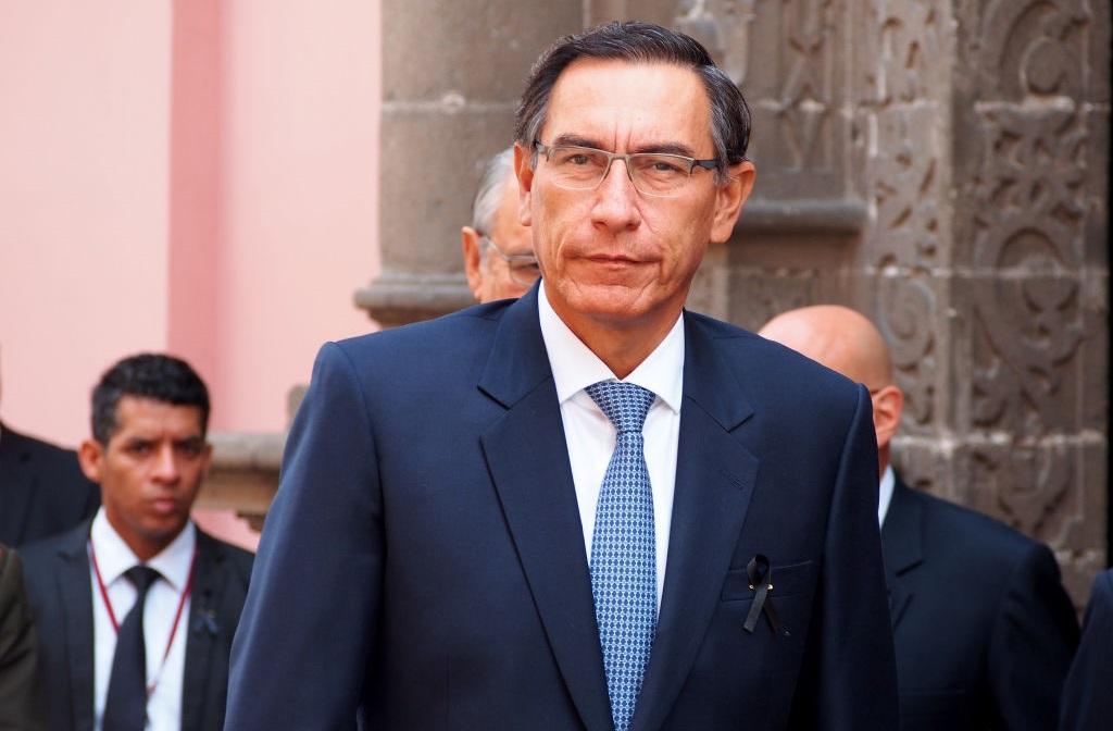 El mandatario peruano Martín Vizcarra