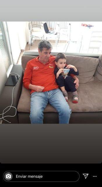 Mirko Jocic y su nieto