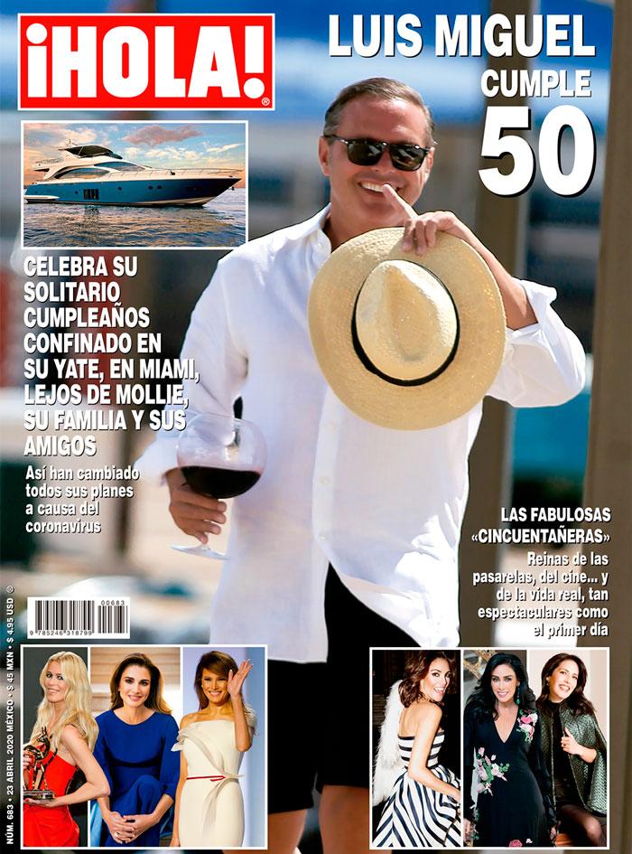 Portada de revista ¡Hola! con Luis Miguel