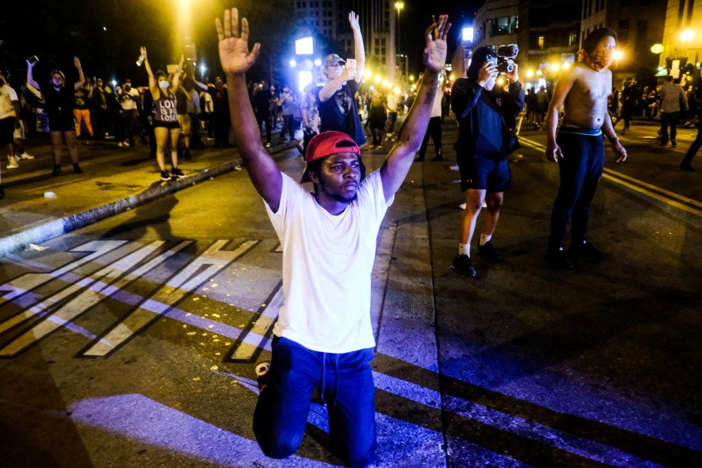 Manifestantes salieron a las calles en Columbus