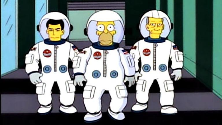 """Los Simpson y dedicatorias a los """"terraplanistas"""" protagonizaron los memes del lanzamiento del cohete de SpaceX"""