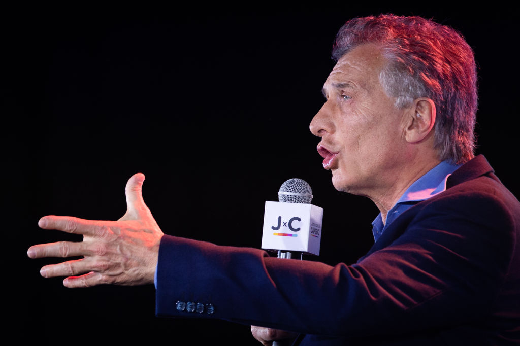 Macri durante la campaña electoral