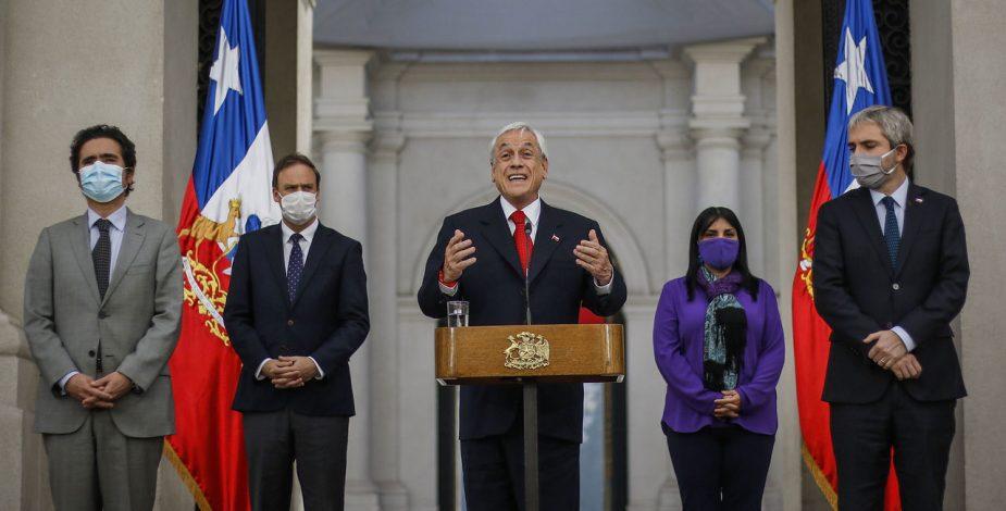 """Presidente Piñera llamó a un """"gran acuerdo nacional"""" entre todos ..."""