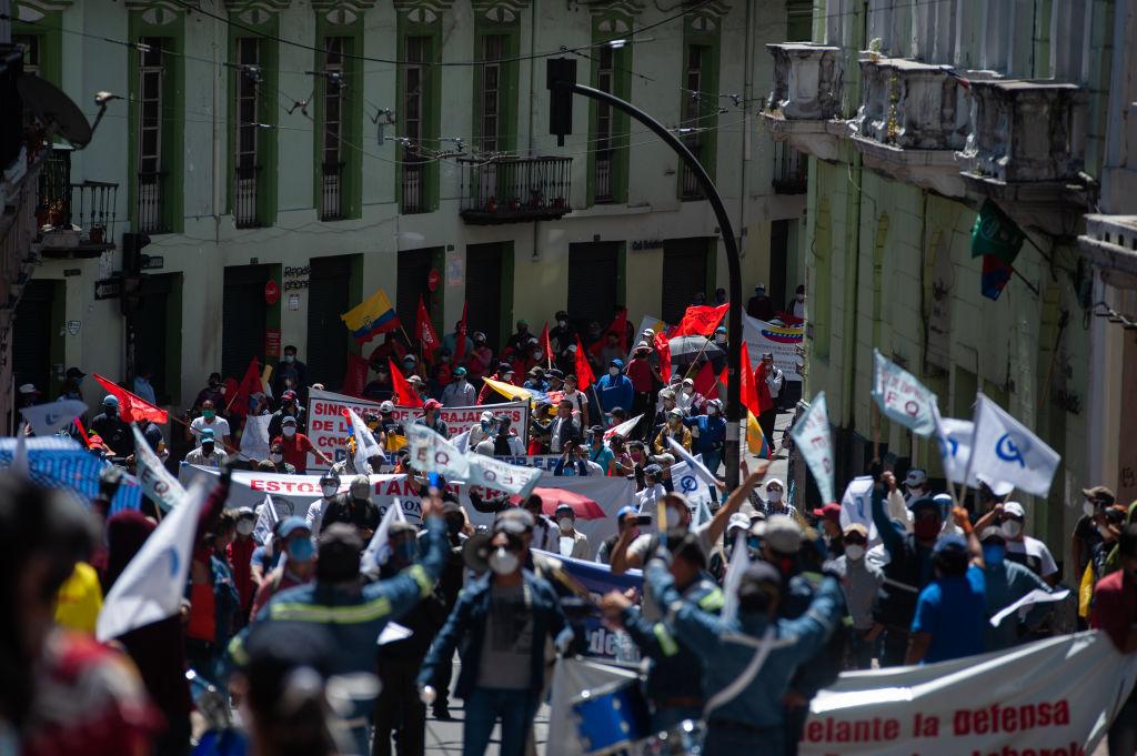 Grupos de manifestantes se reunieron pese a la pandemia en Ecuador