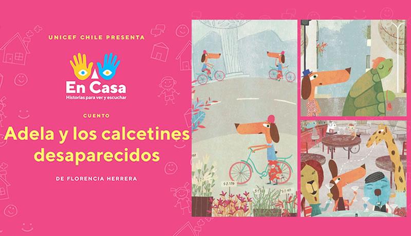 """Mira y escucha """"Adela y los calcetines desaparecidos"""", de Florencia Herrera"""