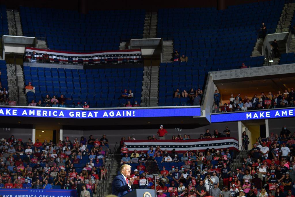 El acto de campaña de Trump en Tulsa