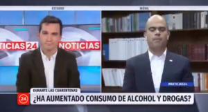 La insólita respuesta del director del Senda al ser consultado por el consumo de drogas y alcohol durante la pandemia