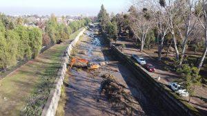 Subsecretario de Obras Públicas supervisó labores de limpieza en sectores de La Reina de cara al pronóstico de lluvia