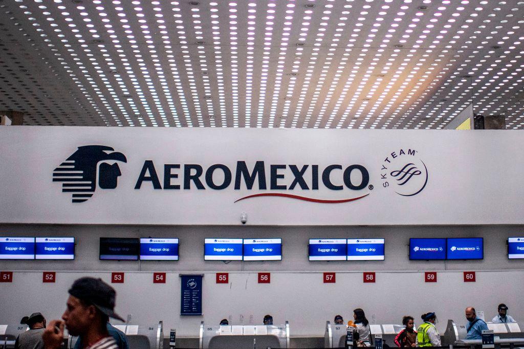 El mesón de Aeroméxico en el aeropuerto de Ciudad de México