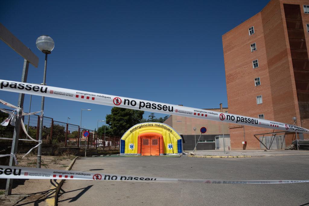 Se cierra una zona cercana a un recinto hospitalario en Lleida