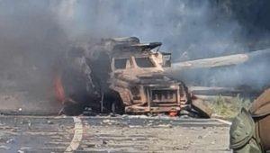 Quemaron carro lanzagases durante manifestación en Cañete