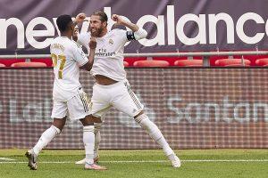 Real Madrid se consolidó como líder de la liga española con polémico penal