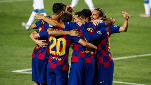 Barcelona derrotó con lo justo al Espanyol y mantiene vivas las chances de coronarse campeón de La Liga