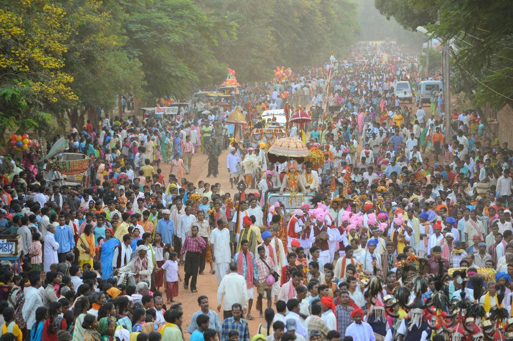 Un festival en Jagdalpur de India