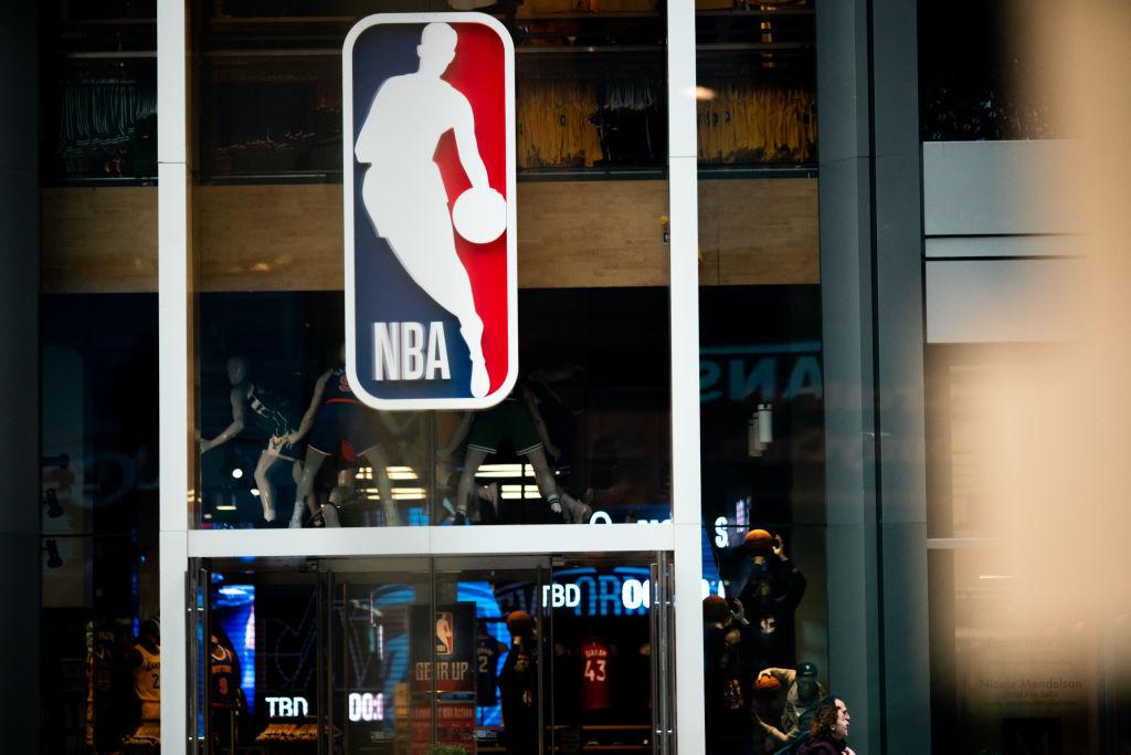 Una tienda de la NBA vacía en Nueva York