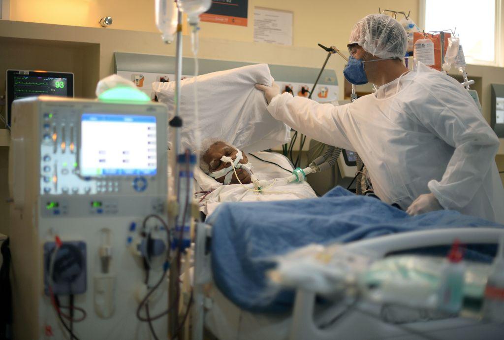 Un paciente del Covid-19 en un hospital de Río de Janeiro