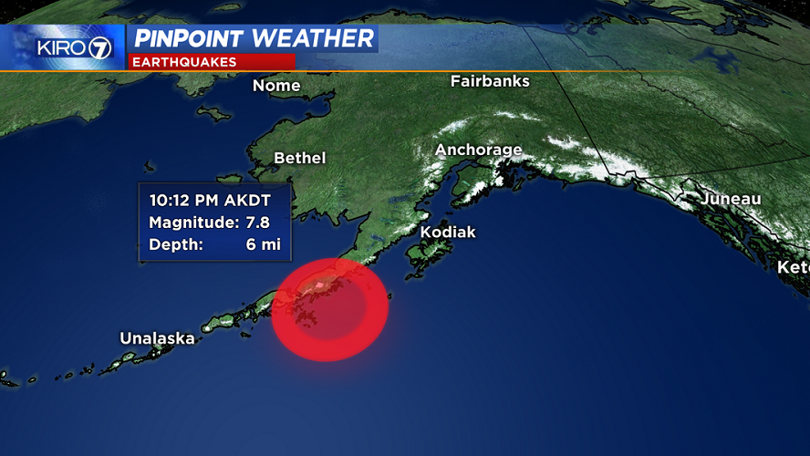 Alerta de tsunami en Alaska