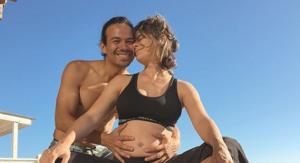 Francisco Puelles y Montserrat Ballarin le dieron la bienvenida a su primer hijo juntos