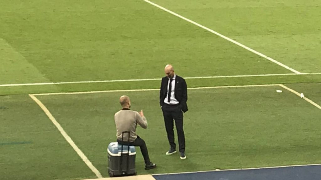 Guardiola junto a Zidane