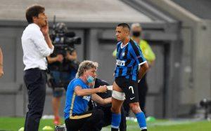 Revelan imágenes de Alexis Sánchez tras sufrir lesión jugando con el Inter por la Europa League