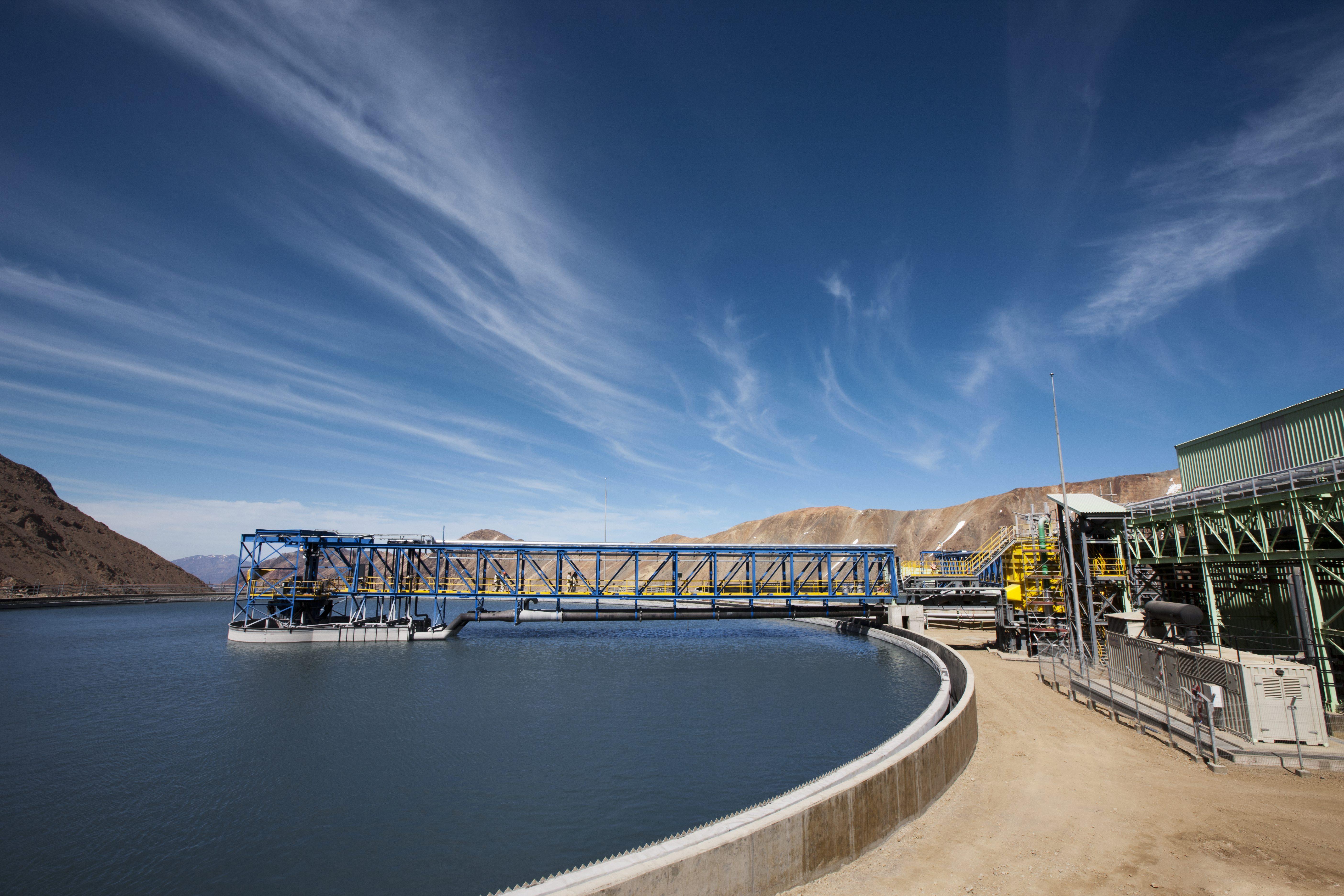 Gestión hídrica en Los Bronces