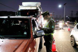 Carabineros reportó más de 2.400 personas detenidas durante las últimas 24 horas