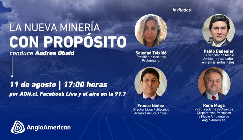 """Anglo American y ADN presentan el webinar """"La Nueva Minería con Propósito"""""""